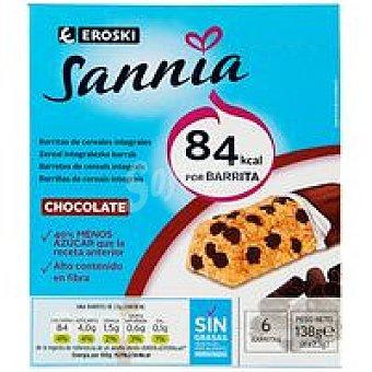 Eroski Sannia Barritas de chocolate Caja 138 g
