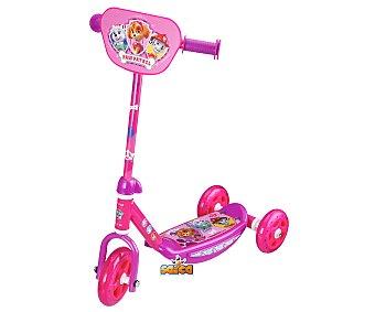Patrulla Canina Patinete infantil con tres ruedas color rosa, diseño CANINA.