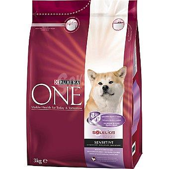 One Purina Alimento para perro rico en pollo y arroz Digestión Sensible Paquete 3 kg