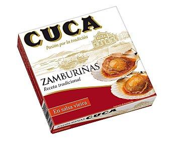 Cuca Zamburiñas en salsa de vieira receta tradicional 65 g