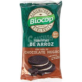 BIOCOP Tortitas de arroz con chocolate negro ecológicas Envase 100 g