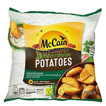 McCAIN MEDITERRANEAN Patatas prefritas y ultracongeladas, cortadas en gajos con piel y finas hierbas 750 g
