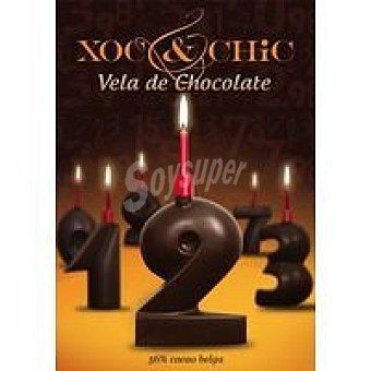 Xoc & Chic Vela de chocolate Nº 2 Pack 1 unid