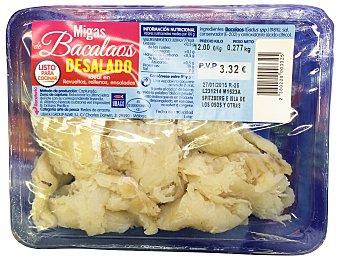 Ubago Migas de bacalao desalado Paquete 280 g peso aprox