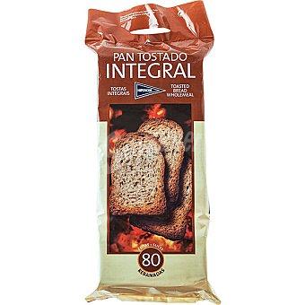 Hipercor pan tostado integral 80 rebanadas Paquete 720 g