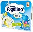 Postre lácteo de pera a partir de 8 meses iogolino Pack de 6 unidades de 60 gramos Nestlé