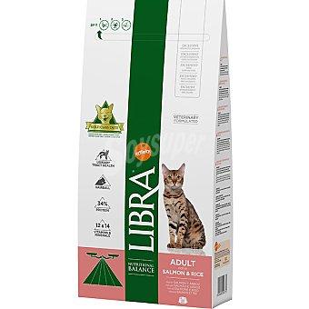 LIBRA ADULT Alimento equilibrado para gatos con salmon y arroz Bolsa 15 kg
