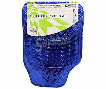 Car factory Alfombrilla universal de goma, de color color azul con efecto metal Tunning style Tunning style