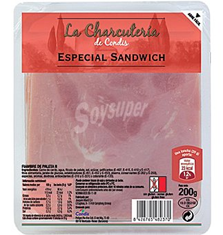 Condis Especial sandwich 200 GRS