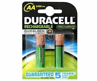 Duracell Pilas recargables AA HR6 Pack de 2 Unidades