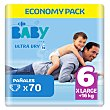 Pañales Carrefour Baby Ultra Dry Talla 6 (+16 kg) 70 ud Carrefour Baby