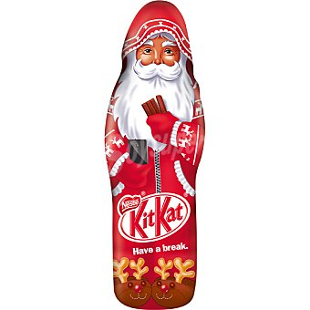Kit Kat Nestlé Chocolatina con forma de Santa Claus  unidad 85 g