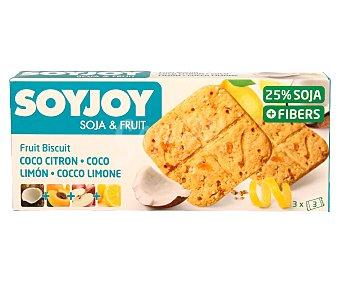SOYJOY Galletas de soja y frutas (coco, limón, manzana y albaricoque) 110 gramos