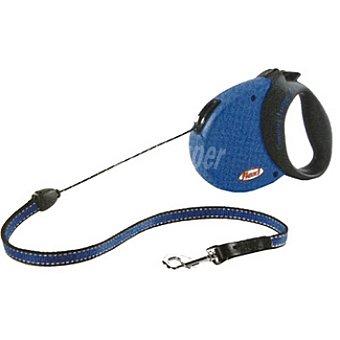 BIOZOO AXIS FLEXI CONFORT Correa extensible color azul-negro cordón de 5 metros para perros de peso aproximado 12 kg 1 unidad