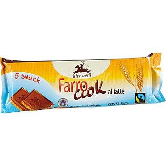 ALCE NERO Farro Ciok Galleta espelta de chocolate con leche Envase 140 g