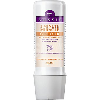 Aussie Mascarilla 3 minutos Miracle Colour con extracto de melocotón salvaje australiano frasco 250 ml revitaliza y reaviva el color Frasco 250 ml