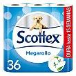 Papel higiénico Megarollo formato ahorro Paquete 36 rollos Scottex