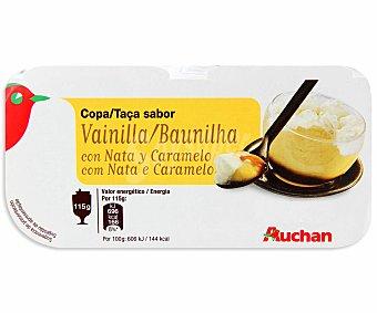 Auchan Copa de vainilla con caramelo Pack 4 unidades de 115 gramos