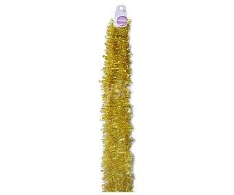 Actuel Espumillón de 2.5 metros y grosor de 8 centímetros, con estrellitas intercaladas, todo en color dorado ACTUEL 2.5m