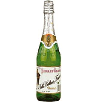 EL GAITERO sidra achampanada etiqueta blanca botella 75 cl