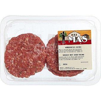 E.mas Hamburguesas mixtas ternera-cerdo 4 unidades Bandeja 360 g