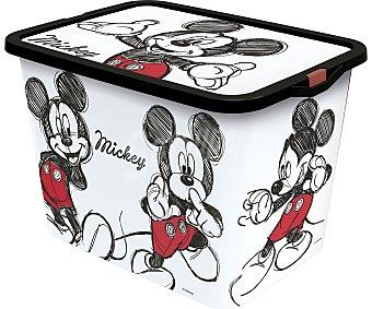 Mickey Disney Caja de ordenación con tapa y diseño Mickey Mouse, 23 litros, DISNEY. 23 litros