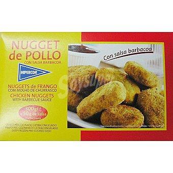 Hipercor Nugget de pollo con salsa barbacoa Estuche 350 g