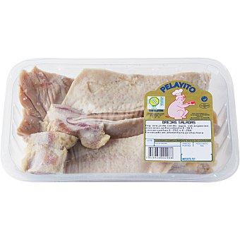 PELAYITO Oreja de cerdo salada peso aproximado bandeja 500 g