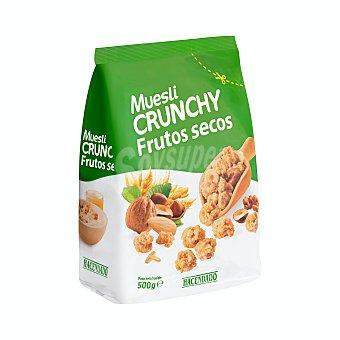 Hacendado Cereal muesli crujiente frutos secos Paquete 500 g
