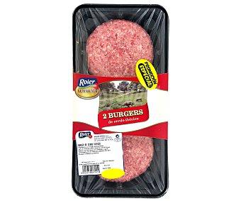 Roler Hamburguesas de cerdo ibérico bandeja 240 g 240 gr (2 unidades)