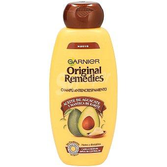 Garnier Champú antiencrespamiento con aceite de aguacate y manteca de karité para cabello rebelde Bote 400 ml