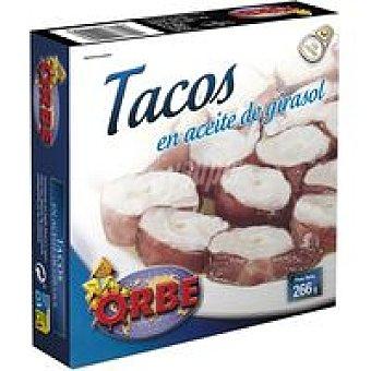 Orbe Tacos en aceite Frasco 266 g