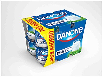 Danone Yogur natural 12 unidades de 125 g
