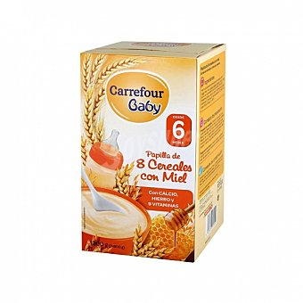 Carrefour Baby Papilla infantil desde 6 meses 8 cereales con miel Carrefour Baby 1200 g