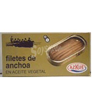 Azcue Filete de anchoa en aceite vegetal 1/8 oro 47 g