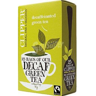 Qbio té verde desteinado ecológico 25 bolsitas Envase 50 g