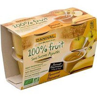 DANIVAL Compota de manzana-plátano Pack 440