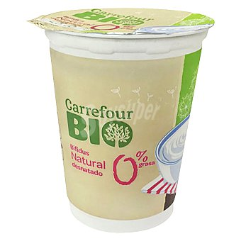 Carrefour Bio Yogur Bífidus 0% natural 500 g