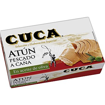 Cuca Atún en aceite de oliva de pesca tradicional con caña Lata de 80 g neto escurrido