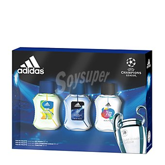 Adidas Estuche colonias spray GET READY 50 ml. + UCL 50 ml. + TEAM FIVE 50 ml.  1 ud