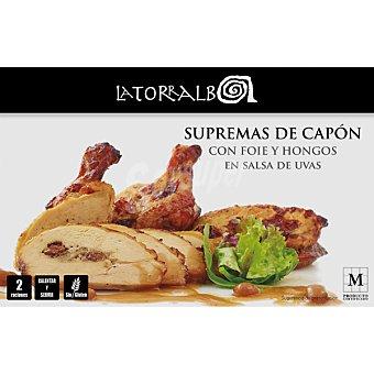 La Torralba Supremas de capón con foie y hongos y salsa de uvas 2 raciones calentar y servir Estuche 700 g neto escurrido
