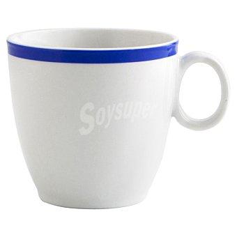 LUMINARC Colortonic Jarra Mug en color blanco con el filo azul 35 cl 1 unidad