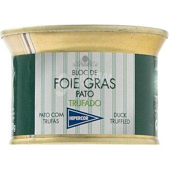 Hipercor Bloc de foie gras de pato trufado lata 130 g Lata 130 g