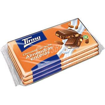 Tirma chocolate con leche y almendras enteras 3 tabletas estuche 450 g