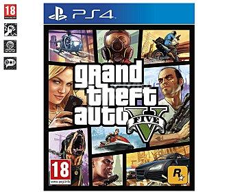 ACCIÓN Videojuego GTA V para PS4. Género: , Shooter 3ª Persona. Recomendación por edad pegi: + 18 - 1 Unidad