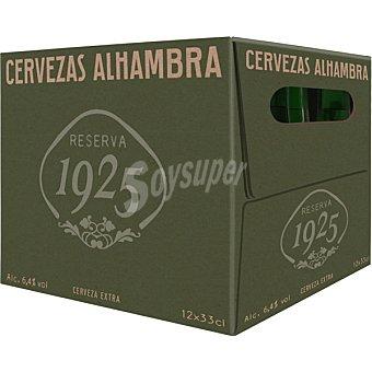 Alhambra Cerveza reserva 1925 Pack 12 botellas x 33 cl