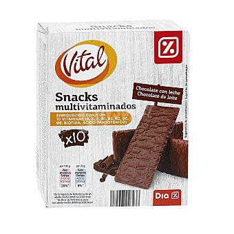 DIA Snack bañado de chocolate con leche caja 200 gr 200 gr