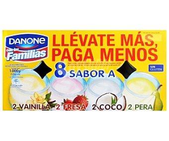 Danone Yogur varios Sabores(Fresa-Coco-Vainilla-Pera) 8x125g