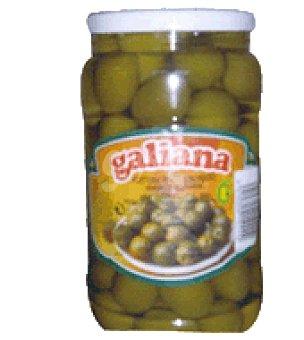 Galiana Aceituna gordal picante p.escurrido 900g p.neto 1000g p.bruto 1.500g 900 g