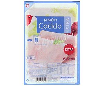 Auchan Jamón cocido extra Sobre de 150 gramos